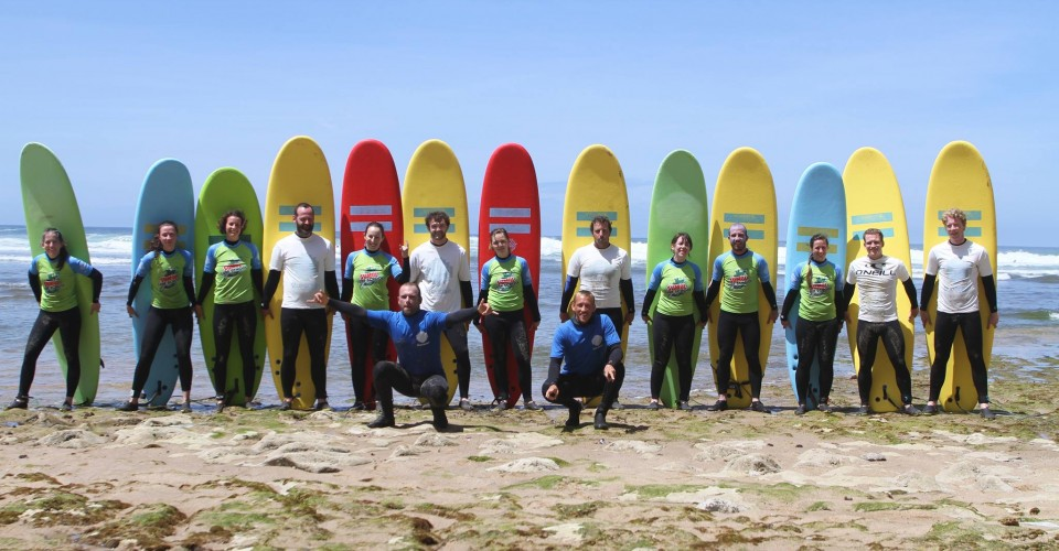 Group Picture at the Ribeira d'Ilhas surf spot